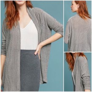 Anthropologie Marion Striped Cardigan Sweater NWT